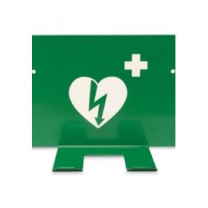 Vägghållare hjärtstartare grön