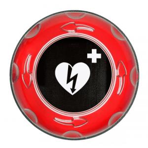 utomhusskåp hjärtstartare med larm och värme - röd