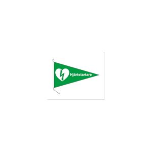 Båtflagga - vimpel hjärtstartare