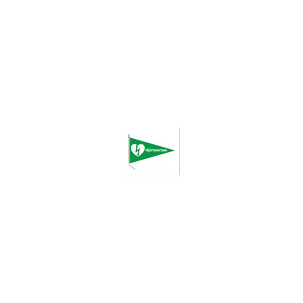 hjärtstartarflagga båt