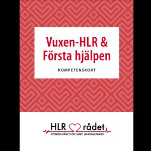 kompetenskort - vuxen-HLR och första hjälpen - 50-pack